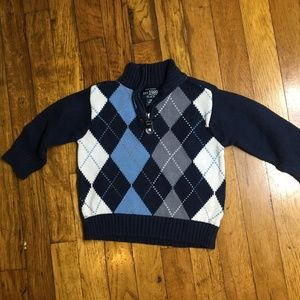Boys Children's Place Long Sleeve Argyle Sweater